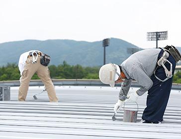 ヨドバシカメラ様 店舗の屋根塗装、雨漏り補修事例|栃木の工場、倉庫の外壁塗装、屋根専門店ウチックス